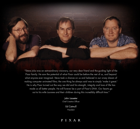Pixar's eulogy to Steve Jobs